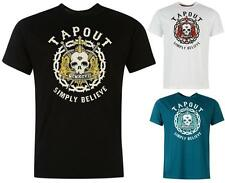 Tapout Large Skull Print T Shirt Mens UFC Short Sleeves Top ~All Sizes S- XXXL