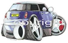 Koolart - Personalised Mini New Car - iPhone 5, 6 or 6+ Case - 1197