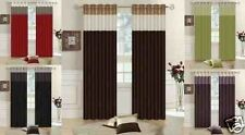 Luxury Faux Silk Fully Lined Three Tone Eyelet Ring Top Luxury Curtains ☆☆SALE☆☆