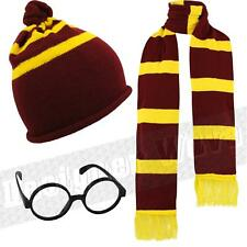 Wizard Boy Girl Unisex Hat, Scarf and Glasses Combo Harry Gryffindor Fancy Dress
