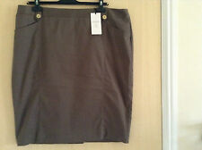M&S Donna' Cotone Classico Rich Chino Gonna A Tubino UK 18-20 / EU 46-48 - NUOVO
