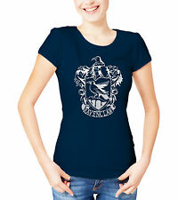 Harry Potter Ravenclaw ladies T-Shirt Navey with silver crest.