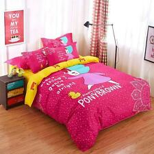 Single Double Queen King Size Bed Set Pillowcase Quilt Duvet Cover Girl Friend L
