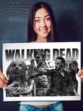 Walking Dead Original Sketch Prints - Poster - Gifts For Guys - FREE Shipping