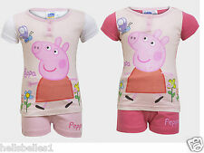 GIRL'S FULLY LICENSED PEPPA PIG BUTTERFLY SHORT PJ/PYJAMAS 18M 2 3 4 5 6Y