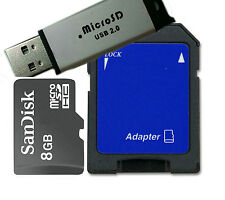 SanDisk 8GB Class 4 MicroSD Memory /Micro SDHC+ Reader/SD and Flash Drive d