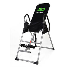 New Inversion Table Deluxe Fitness Chiropractic Table Back Pain Relief Exer