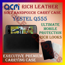 ACM-RICH LEATHER SOFT CASE for YESTEL Q555 MOBILE HANDPOUCH COVER HOLDER LATEST