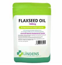 Flaxseed Oil 1000mg Rapid Release Softgel Capsules - Rich Source of Omega 3-6-9