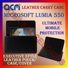 ACM-HORIZONTAL LEATHER CARRY CASE for MICROSOFT LUMIA 550 MOBILE POUCH COVER NEW
