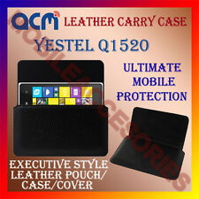 ACM-HORIZONTAL LEATHER CARRY CASE for YESTEL Q1520 MOBILE POUCH COVER HOLDER NEW