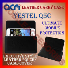 ACM-HORIZONTAL LEATHER CARRY CASE for YESTEL Q5C MOBILE POUCH COVER HOLDER NEW