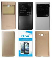 TBZ Premium Leather Window Flip Cover Case for Samsung Galaxy with Screen opt