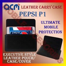 ACM-HORIZONTAL LEATHER CARRY CASE for PEPSI P1 MOBILE COVER HOLDER PROTECTION