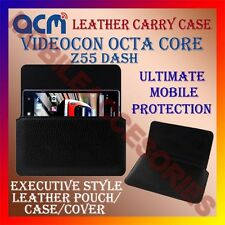 ACM-HORIZONTAL LEATHER CARRY CASE for VIDEOCON OCTA CORE Z55 DASH MOBILE COVER