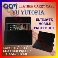 ACM-HORIZONTAL LEATHER CARRY CASE for YU YUTOPIA MOBILE COVER HOLDER PROTECTION