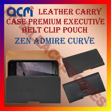 ACM-BELT CASE for ZEN ADMIRE CURVE MOBILE LEATHER HOLSTER COVER POUCH HOLDER NEW