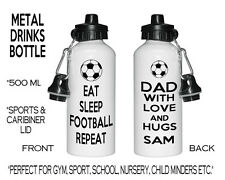 Personalised Metal Photo Sports Water Drink Bottle Gym Football Rugby Fishing