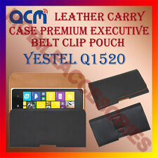 ACM-BELT CASE for YESTEL Q1520 MOBILE LEATHER HOLSTER POUCH HOLDER COVER CLIP