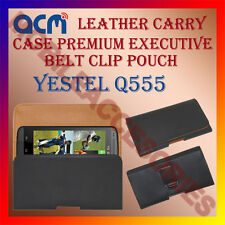 ACM-BELT CASE for YESTEL Q555 MOBILE LEATHER HOLSTER POUCH HOLDER COVER PROTECT