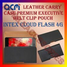 ACM-BELT CASE for INTEX CLOUD FLASH 4G MOBILE LEATHER HOLSTER POUCH COVER HOLDER