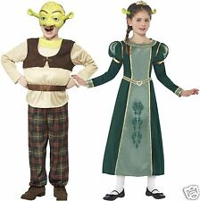 Boys Girls Official Shrek Fiona Fancy Dress Costume World Book Day Outfit 4-12