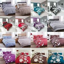 Duvet Cover & Pillowcase Set Luxury Bedding Quilt Single Double King Bedroom Bed