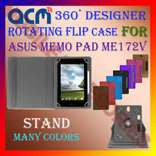 "ACM-DESIGNER ROTATING 360° 7"" COVER CASE STAND for ASUS MEMO PAD ME172V TABLET"