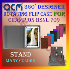 "ACM-DESIGNER ROTATING 360° 7"" COVER CASE STAND for CHAMPION BSNL 709 TABLET TAB"