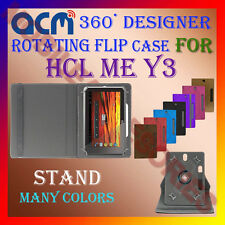 "ACM-DESIGNER ROTATING 360° 7"" COVER CASE STAND for HCL ME Y3 TAB TABLET PREMIUM"