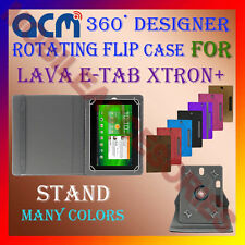 "ACM-DESIGNER ROTATING 360° 7"" COVER CASE STAND for LAVA E-TAB XTRON+TABLET TAB"