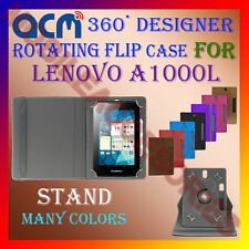 "ACM-DESIGNER ROTATING 360° 7"" COVER CASE STAND for LENOVO A1000L TAB TABLET NEW"