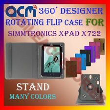 "ACM-DESIGNER ROTATING 360° 7"" COVER CASE STAND for SIMMTRONICS XPAD X722 TABLET"