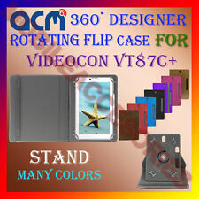 "ACM-DESIGNER ROTATING 360° 7"" COVER CASE STAND for VIDEOCON VT87C+ TAB TABLET"