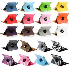 For Apple iPad 2/3/4 360 Rotating Magnetic PU Leather Case Smart Cover Stan