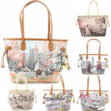 Borsa donna Y NOT ? shopping con manici a spalla SHOPPER BAG 319 london NEW YORK