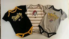 Pittsburgh Pirates MLB 3 Pack Bodysuit (VINTAGE LOOK) SIZES 12,18,24 Months