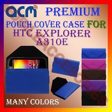 ACM-PREMIUM POUCH LEATHER CARRY CASE for HTC EXPLORER A310E MOBILE COVER HOLDER