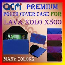 ACM-PREMIUM POUCH LEATHER CARRY CASE for LAVA XOLO X500 MOBILE COVER HOLDER NEW