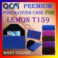 ACM-PREMIUM POUCH LEATHER CARRY CASE for LEMON T159 MOBILE COVER HOLDER PROTECT