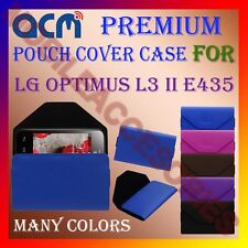 ACM-PREMIUM POUCH LEATHER CARRY CASE for LG OPTIMUS L3 II E435 MOBILE COVER NEW