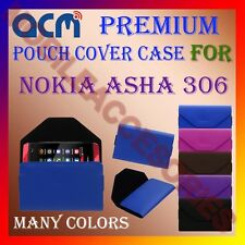 ACM-PREMIUM POUCH LEATHER CARRY CASE for NOKIA ASHA 306 MOBILE COVER HOLDER NEW