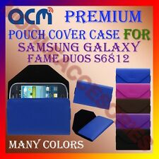 ACM-PREMIUM POUCH LEATHER CARRY CASE for SAMSUNG FAME DUOS S6812 MOBILE COVER