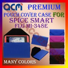 ACM-PREMIUM POUCH LEATHER CARRY CASE for SPICE SMART FLO MI-348E MOBILE COVER