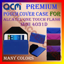 ACM-PREMIUM POUCH LEATHER CARRY CASE for ALCATEL ONE TOUCH FLASH MINI 4031D NEW