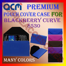 ACM-PREMIUM POUCH LEATHER CARRY CASE for BLACKBERRY CURVE 8530 MOBILE COVER NEW