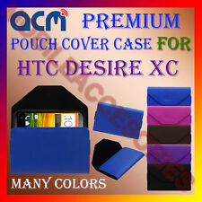 ACM-PREMIUM POUCH LEATHER CARRY CASE for HTC DESIRE XC MOBILE COVER HOLDER NEW