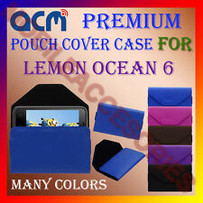 ACM-PREMIUM POUCH LEATHER CARRY CASE for LEMON OCEAN 6 MOBILE COVER HOLDER NEW