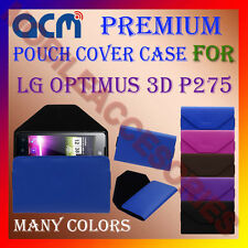 ACM-PREMIUM POUCH LEATHER CARRY CASE for LG OPTIMUS 3D P275 MOBILE COVER HOLDER