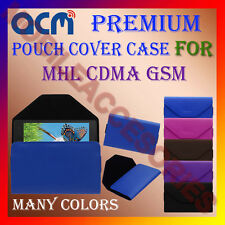 ACM-PREMIUM POUCH LEATHER CARRY CASE for MHL CDMA GSM MOBILE COVER HOLDER LATEST